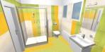 3D návrh koupelny Salsa Rako
