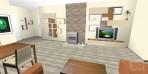 3D Návrhy obývacího pokoje TV set