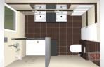 3D návrhy koupelen - obklad Home