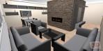 Obývací pokoj - 3D návrh