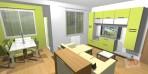 3D návrh obývací stěny